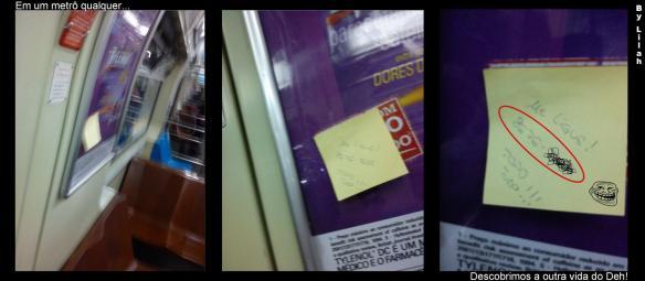 Trollando no metro